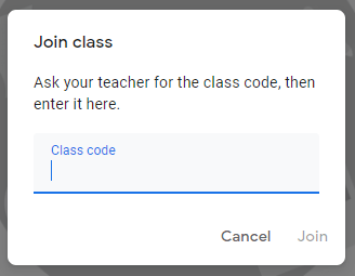 Join class in Google classrom