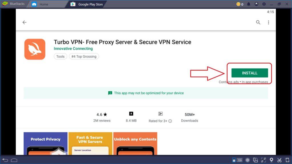 Installing Turbo VPN on PC